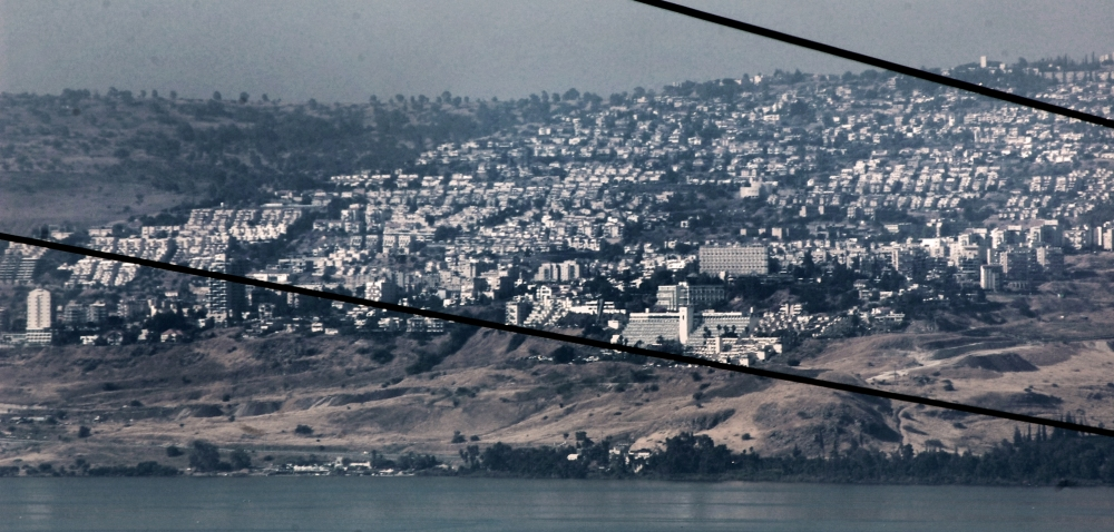 View of Tiberias at Sea of Galilee