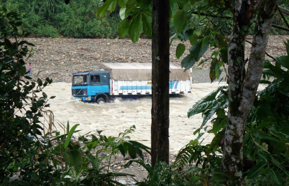 Lorry in Amazon River