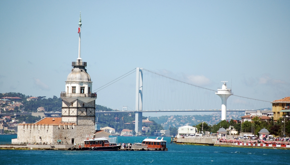 Maiden's Tower Island on Bosphorous Strait