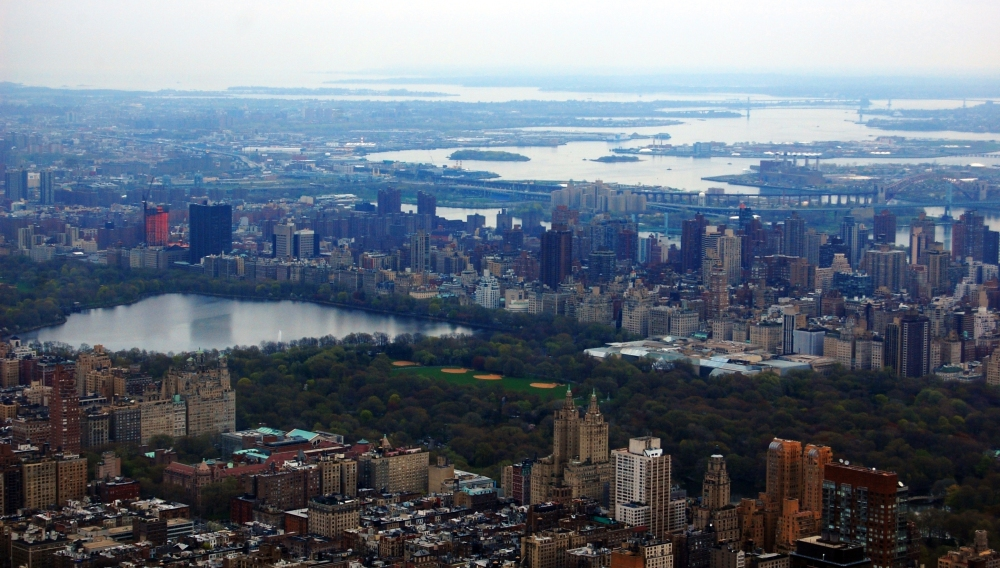 New York Central Park from Air