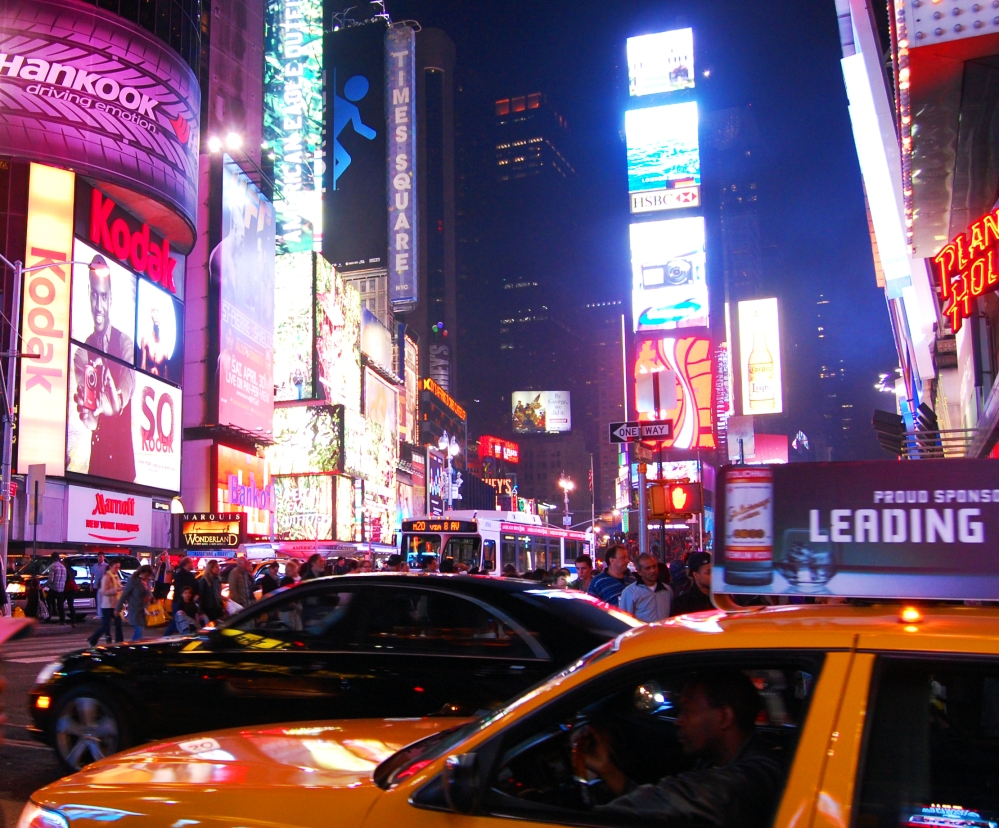 New York Times Square After Dark
