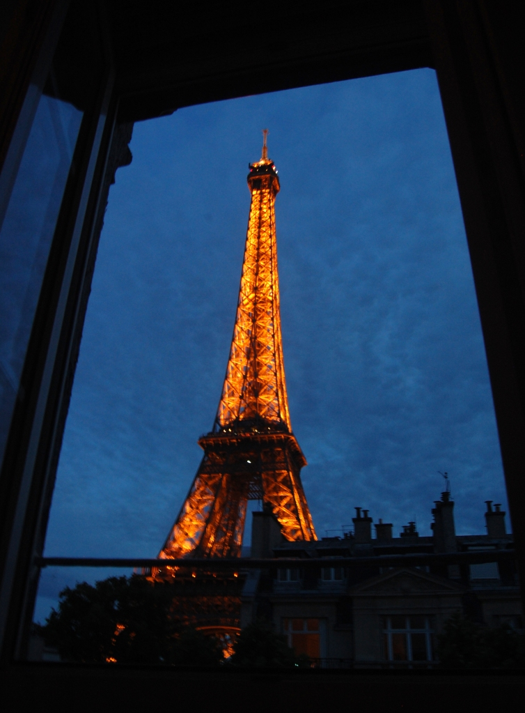 View from Paris Apartment at Night