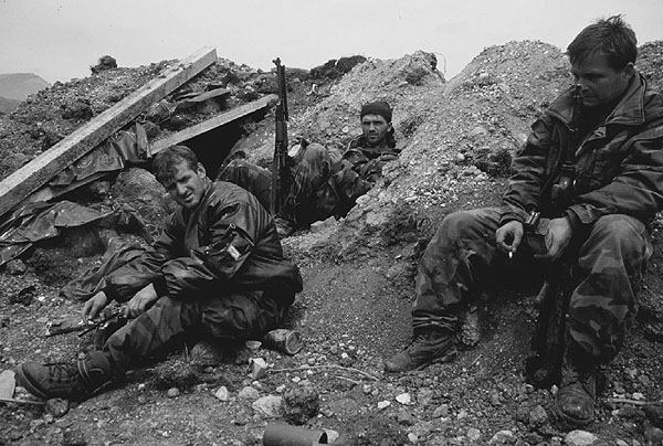 Bosnian War Scene 1990s