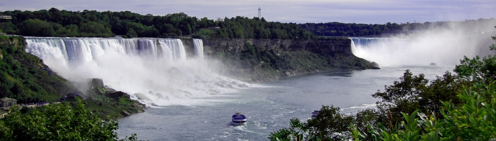 Broad View of Niagara Falls