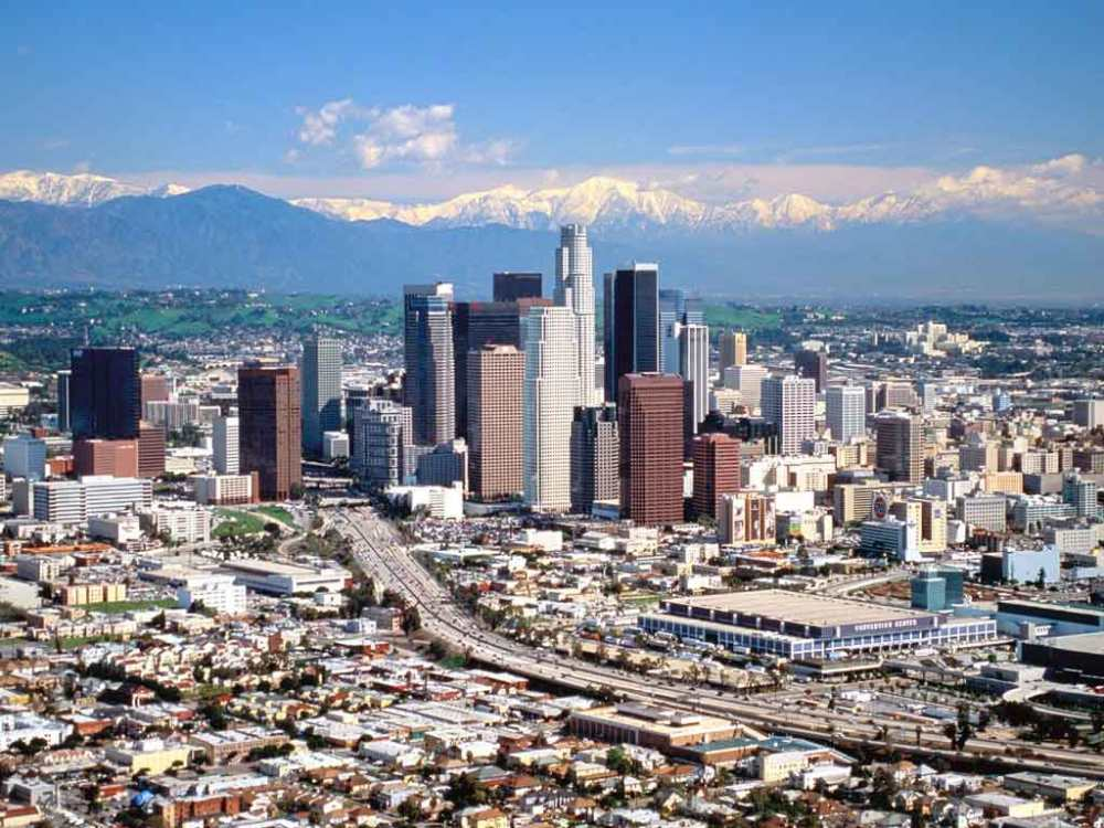 Los Angeles Mountains and City