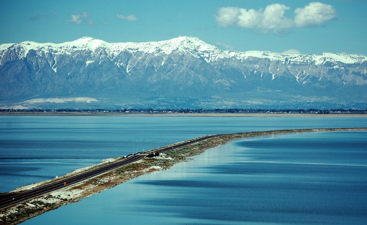 Antelope Island on the Great Salt Lake, Utah