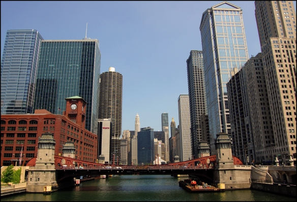 Chicago Skyscrapers with River