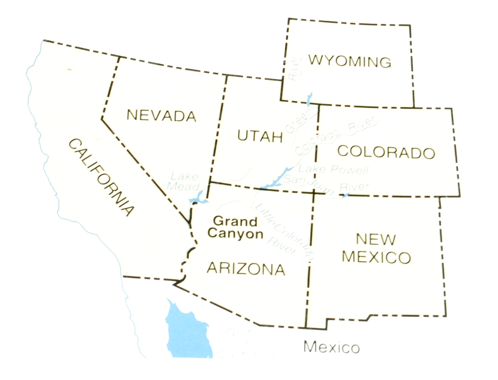 What States does the Grand Canyon cover?