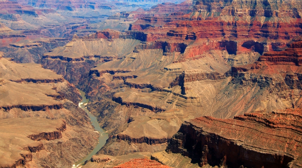 Grand Canyon Colorado River from Helicopter