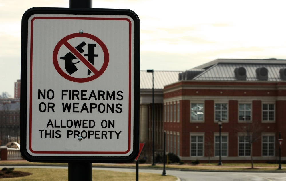No Firearms UNCC Sign