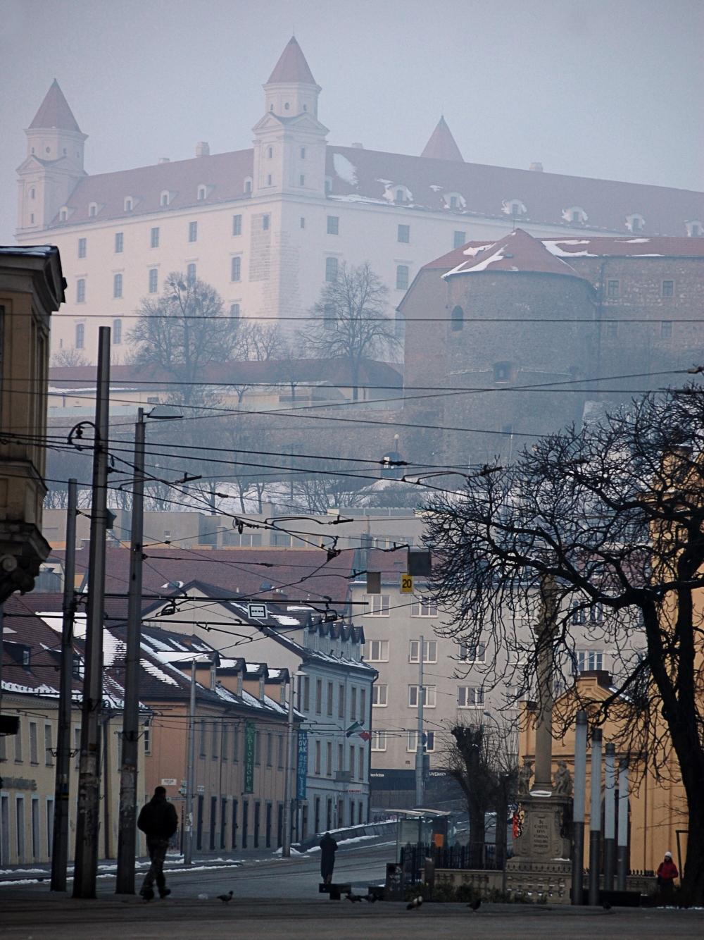 Bratislava Castle in the Mist