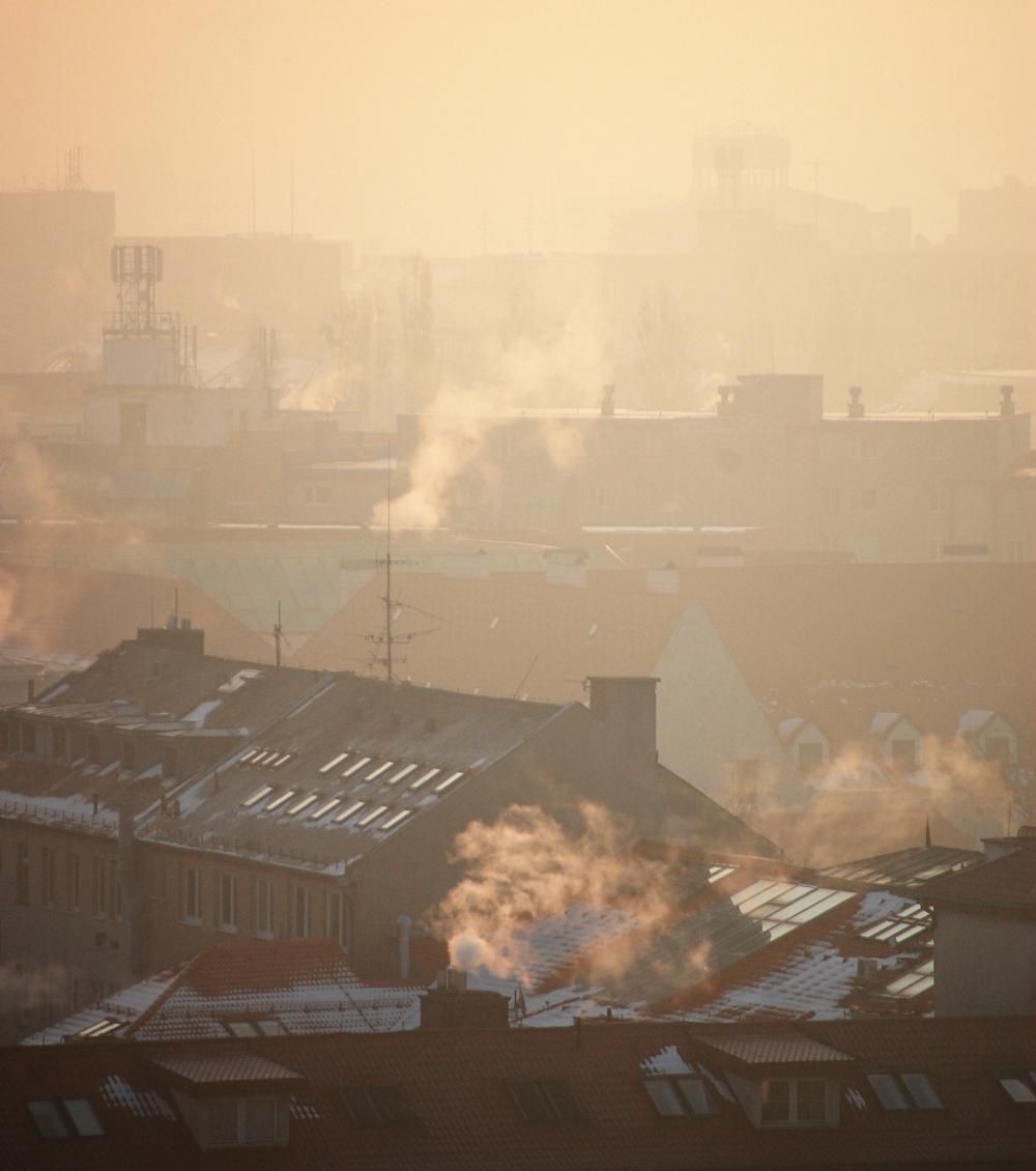Mist and Smoke over Bratislava