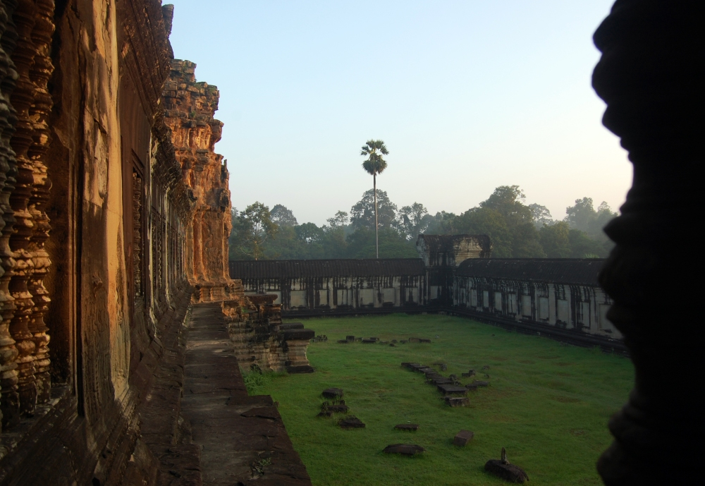 Angkor Wat Inside at Dawn