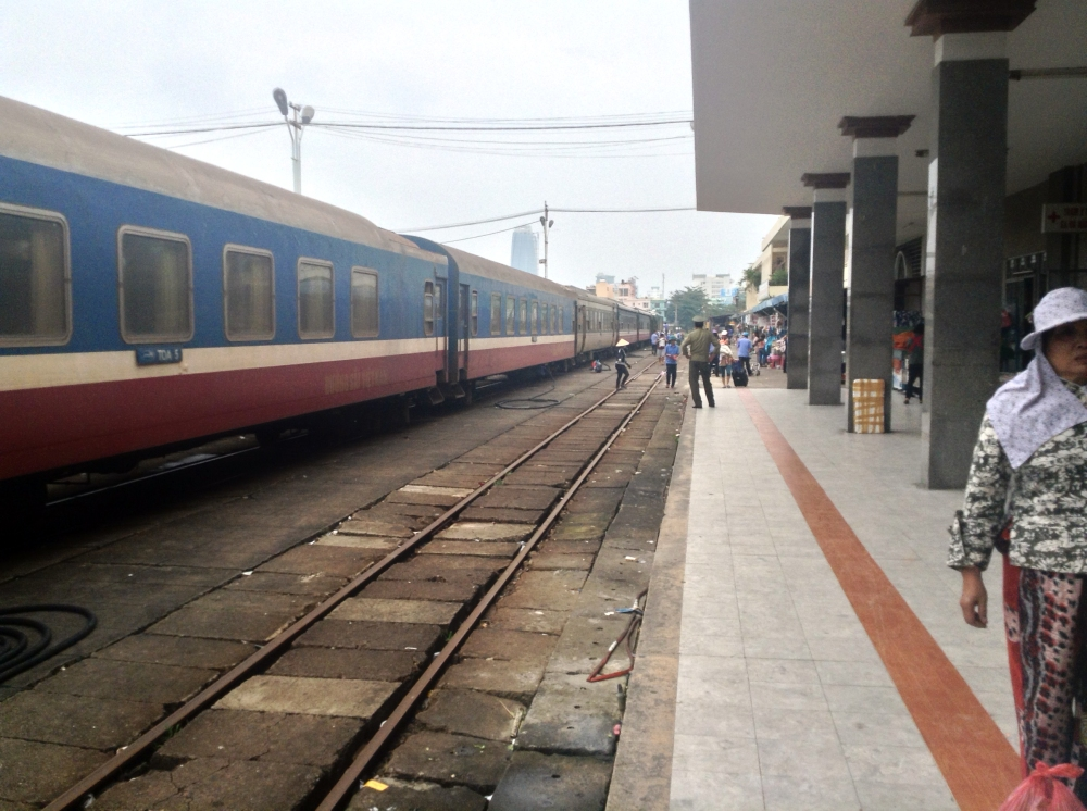 Vietnam Train in Station