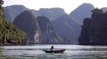 Vietnamese Woman on Ha Long Boat