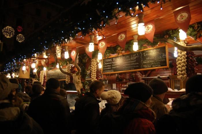 Budapest Xmas Market Stall at Night