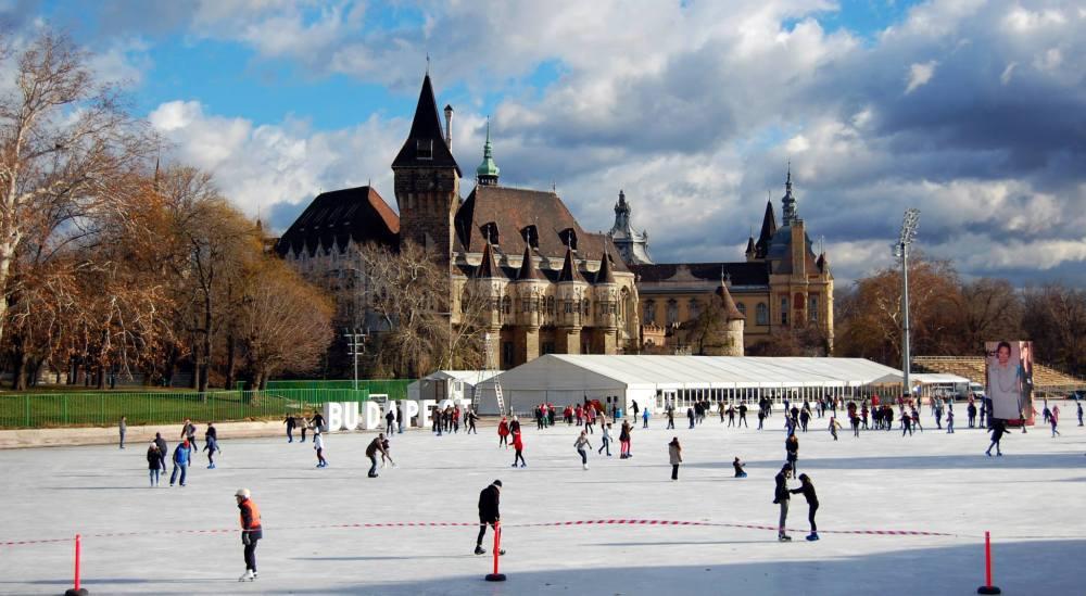 Budapest Ice Skating in December