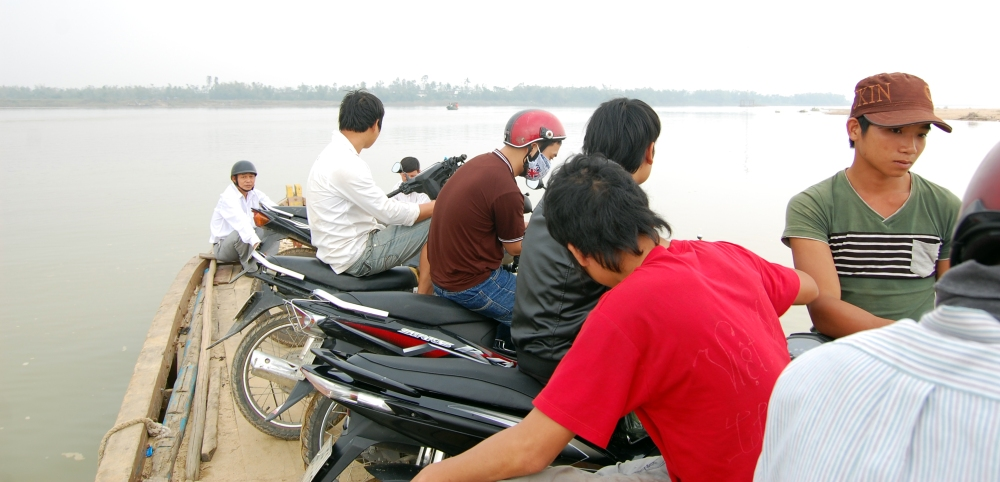 Raft for Ferrying Motorbikes, Vietnam