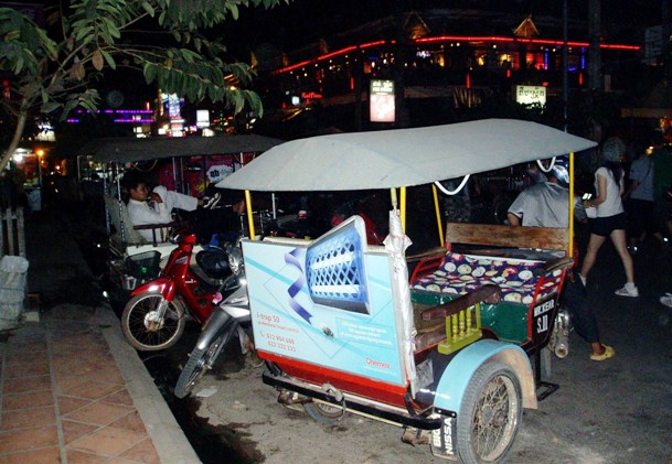 Tuk-tuk at night, Cambodia