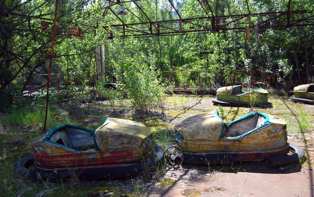 Chernobyl Overgrown Fairground