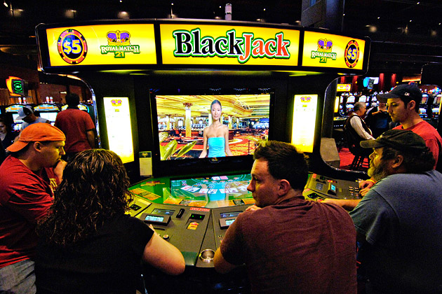 Blackjack machine in Las Vegas
