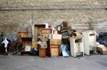 Discarded furniture garbage