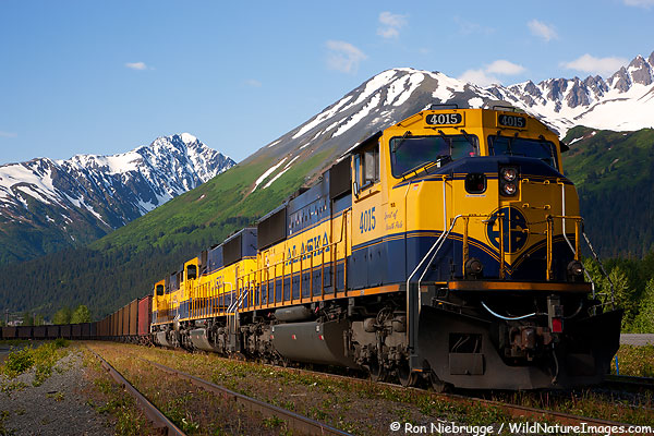 Alaska Railroad, Seward, Alaska.