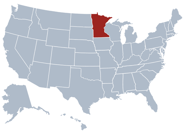 State of Minnesota Map